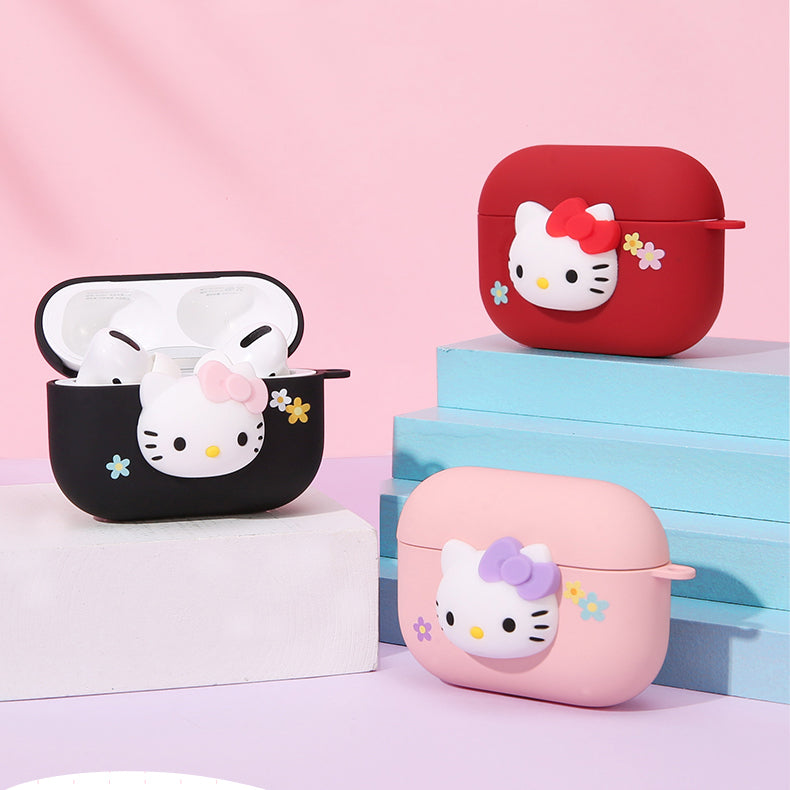 UKA 3D Hello Kitty Matte Touch Apple AirPods Pro/2/1 Charging Case Cover