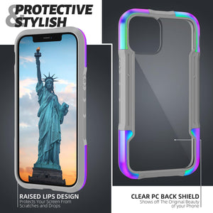 Kylin Armor Razor Military Grade Drop Tested Anodized Aluminum Shockproof TPU Clear PC Protective Case Cover - Armor King Case