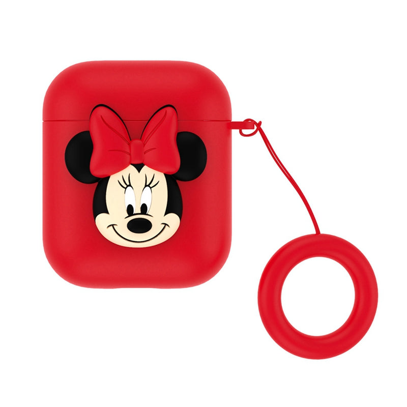 UKA Disney Shockproof Apple AirPods Pro&2&1 Silicone Case Cover with Ring Strap