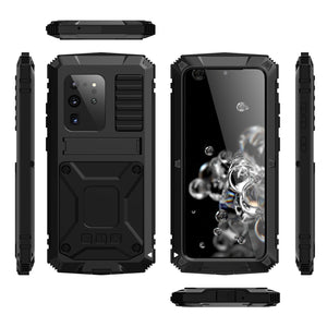 R-Just Kickstand Waterproof Aluminum Metal Outdoor Military Heavy Duty Case Cover