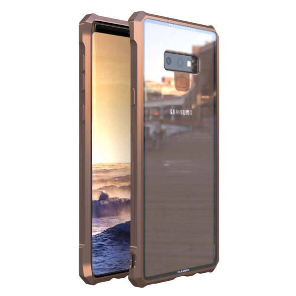 Kylin Armor Shockproof Aluminum Bumper Scratch-resistant Tempered Glass Cover Case
