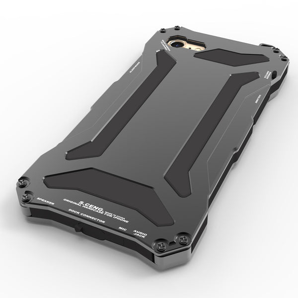 S.CENG Gundam Shockproof Silicone Glass Aluminum Alloy Metal Case Cover