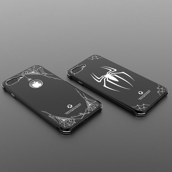 R-Just Spider-Man Aluminum Metal Bumper Acrylic Back Cover Case