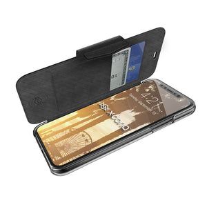 X-Doria Engage Folio Series Leather Cover Clear Back Wallet Case
