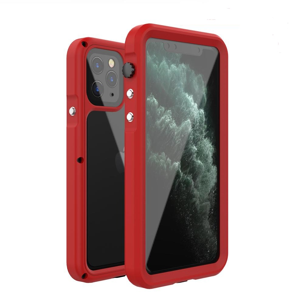 R-Just Seal IP68 Waterproof Shockproof Transparent Full Protection Metal Case Cover
