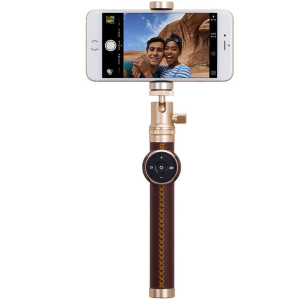 MOMAX 4K Shooting Wireless Selfie Stick Luxe Elite Bluetooth Remote Shutter Selfie Pod