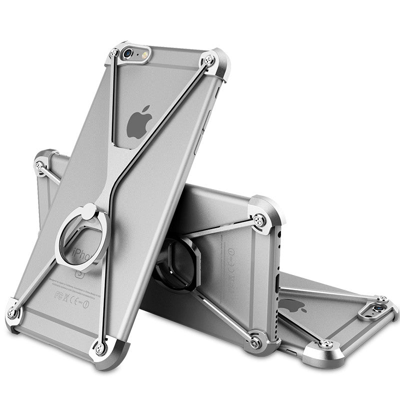 Oatsbasf Aviation X Frame Aluminum Metal Bumper Case with Ring Holder