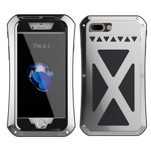 R-Just X-Men Slim Waist Stainless Steel Tempered Glass Heavy Duty Metal Case Cover