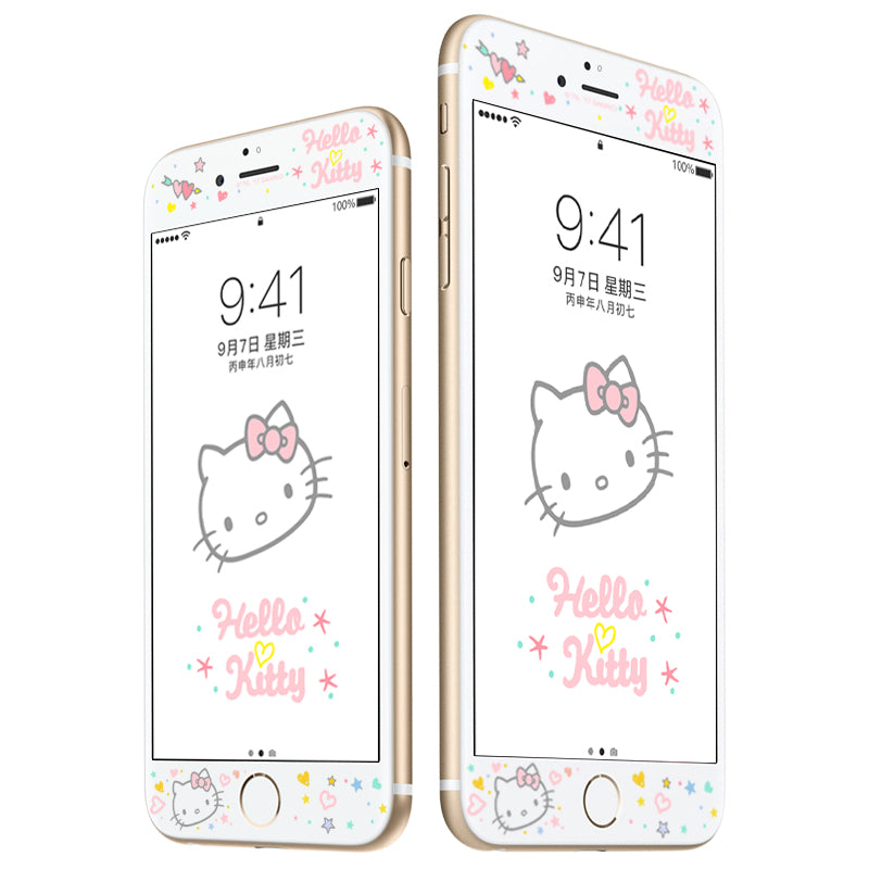 UKA Hello Kitty 3D Full Size 9H Hardness Tempered Glass Screen Protector Film