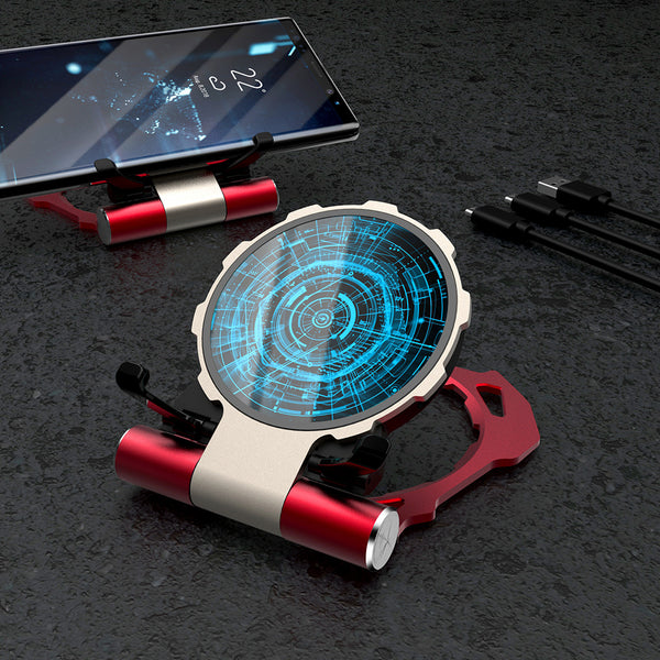 R-Just Iron Man Phone Holder Aluminum Metal Fast Charging Qi Wireless Charger Pad