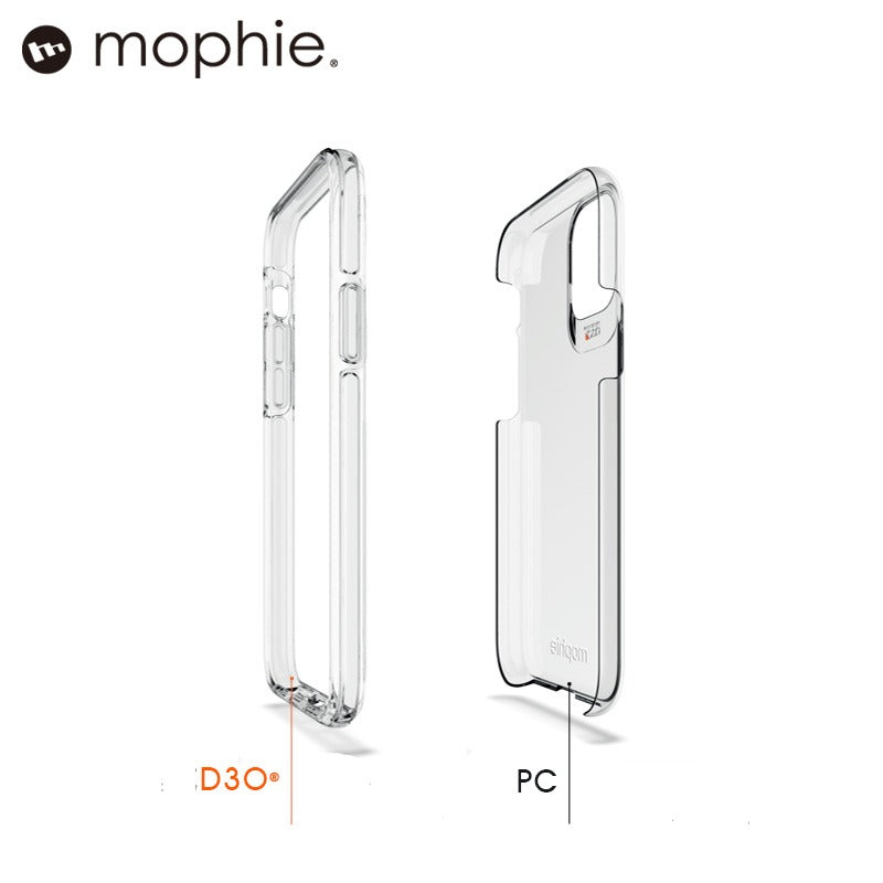 mophie Crystal Palace Clear D3O Ultimate Impact Protection Case Cover
