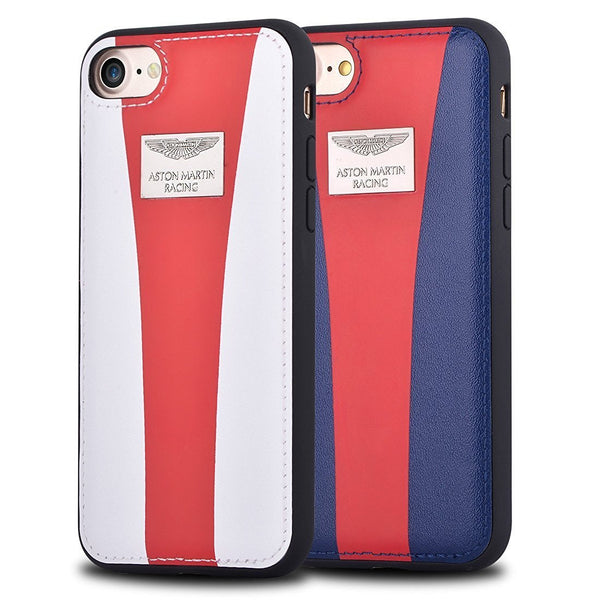 Aston Martin Racing Stripe Genuine Leather Back Cover Case