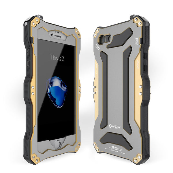 R-Just Gundam IP54 Water-resistant Shockproof Heavy Duty Metal Case Cover