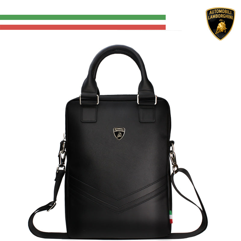 Automobili Lamborghini Huracan D9 Leather Tablet & Laptop Carrier Bag