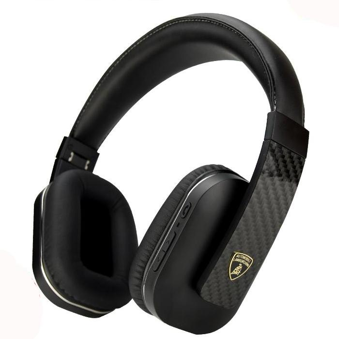 Automobili Lamborghini Aventador VW01 Over The Ear Carbon Fiber Headphones Wireless Bluetooth Headset