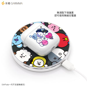 GARMMA BT21 UNIVERSTAR Soft TPU Apple AirPods 2&1 Charging Case Cover