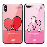 GARMMA BT21 Tempered Glass Back Case Cover
