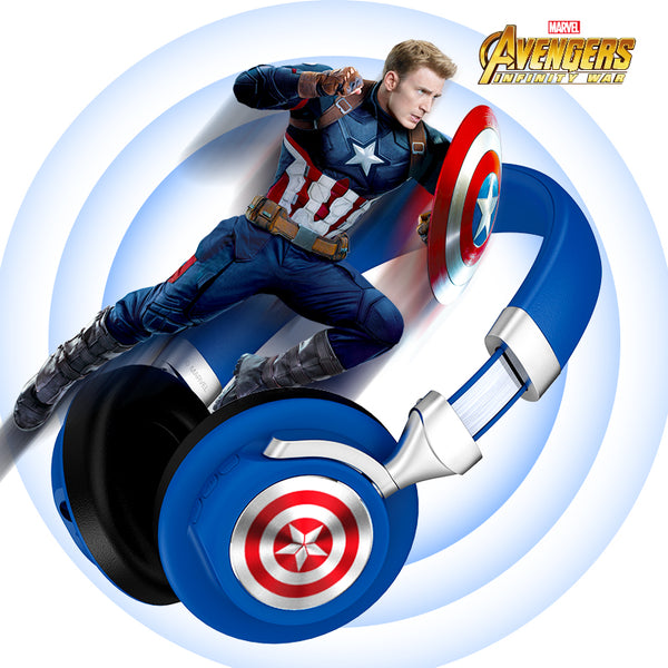 UKA Marvel Avengers CB22 Foldable Stereo Over Ear Sports Wireless Bluetooth Headset