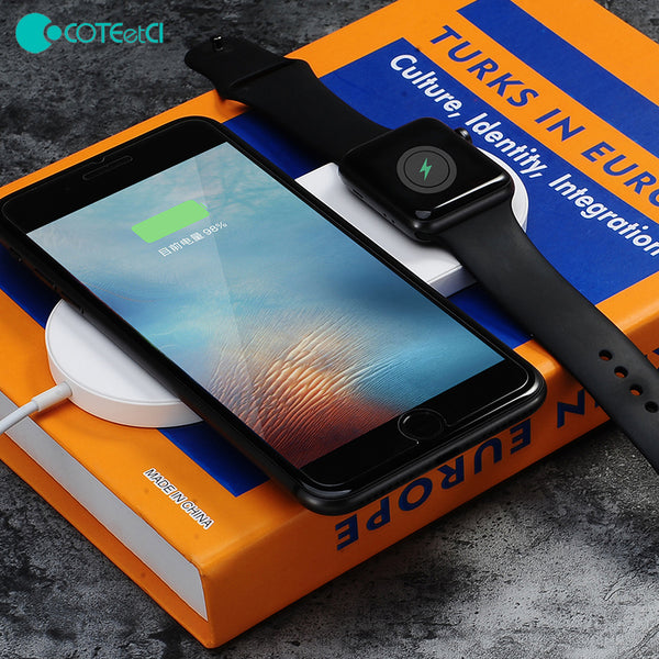 COTEetCI Fast Charging Wireless Charger for Smartphones & Apple Watch