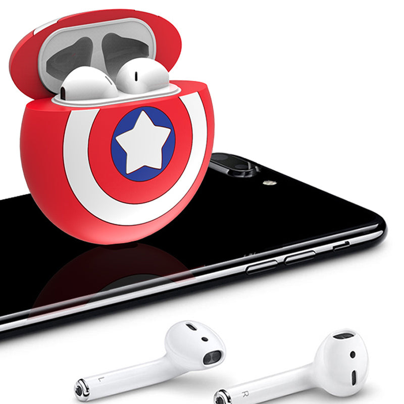 UKA Marvel Captain America Shockproof Apple AirPods 2&1 Charging Case Cover