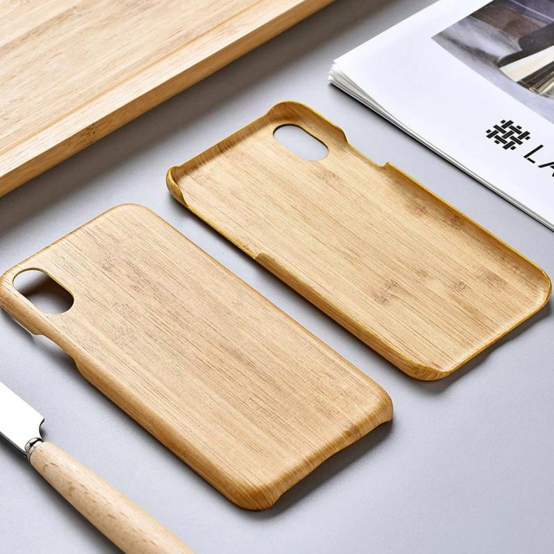 SHOWKOO Carbonized Bamboo Kevlar Natural Wood Ultra Slim Case Cover