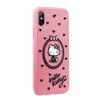 X-Doria Charm Hello Kitty 3D Embroidery Leather Case Cover for Apple iPhone XS/X/8 Plus/7 Plus/7