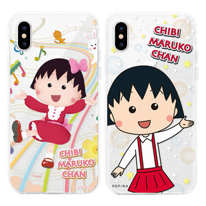 GARMMA Chibi Maruko-chan Shockproof Air Barrier Transparent TPU Soft Back Cover Case