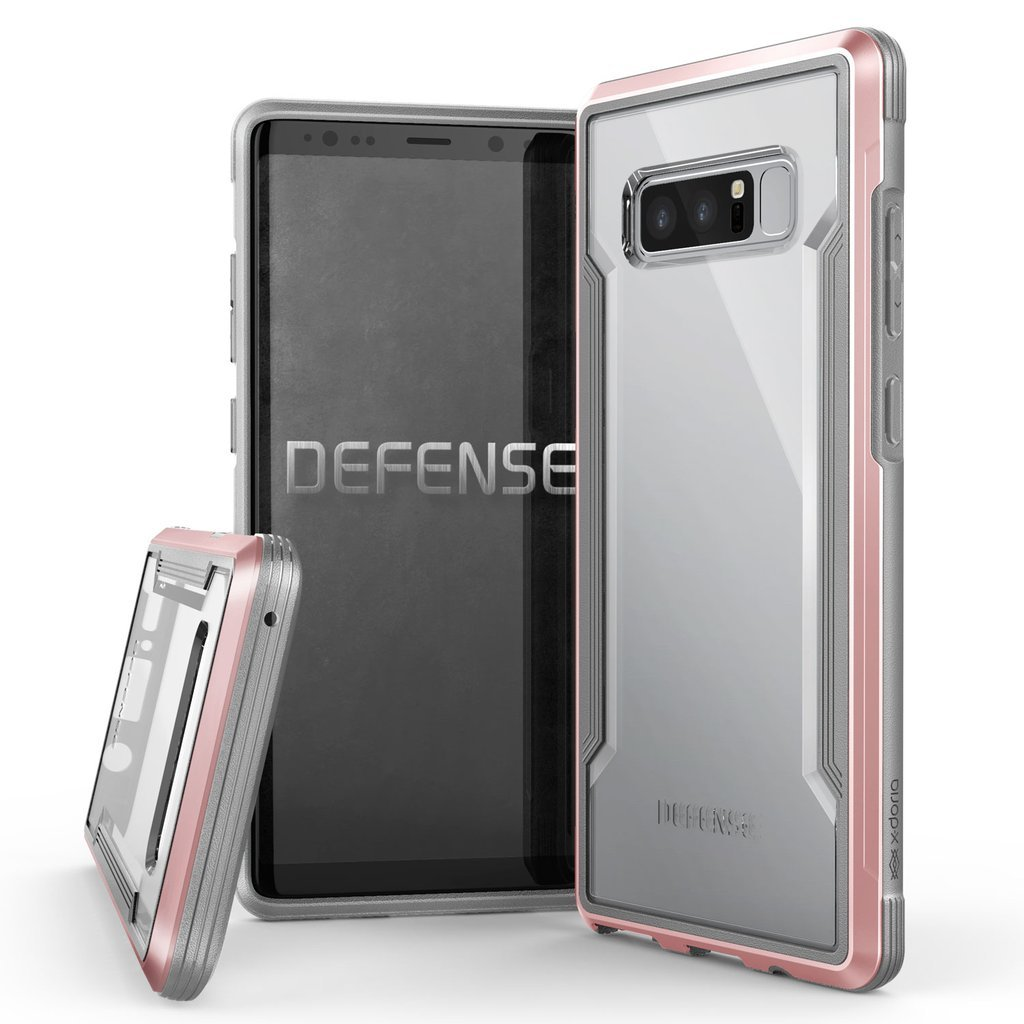 X-Doria Defense Shield Military Grade Anodized Aluminum TPU+PC Durable Case Cover for Samsung Smartphones