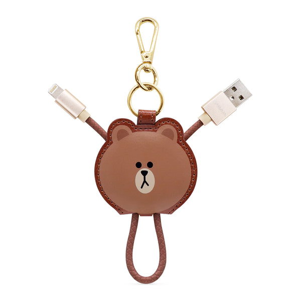 GARMMA Hello Kitty & Line Friends Apple MFI Certified Key Chain Leather USB Lightning Cable