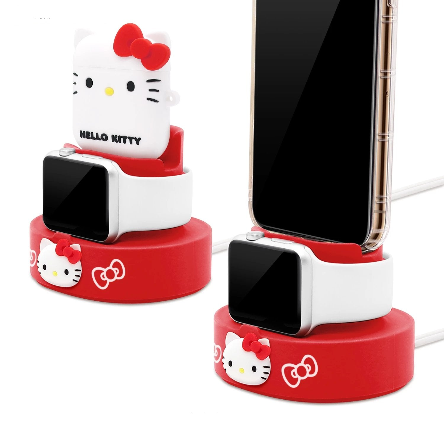 GARMMA Hello Kitty Apple Watch Charger Dock AirPods Charging Stand iPhone Holder