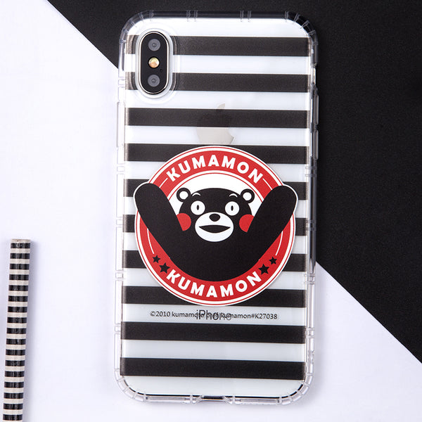 GARMMA Kumamon Shockproof Air Cushion Transparent TPU Soft Back Cover Case