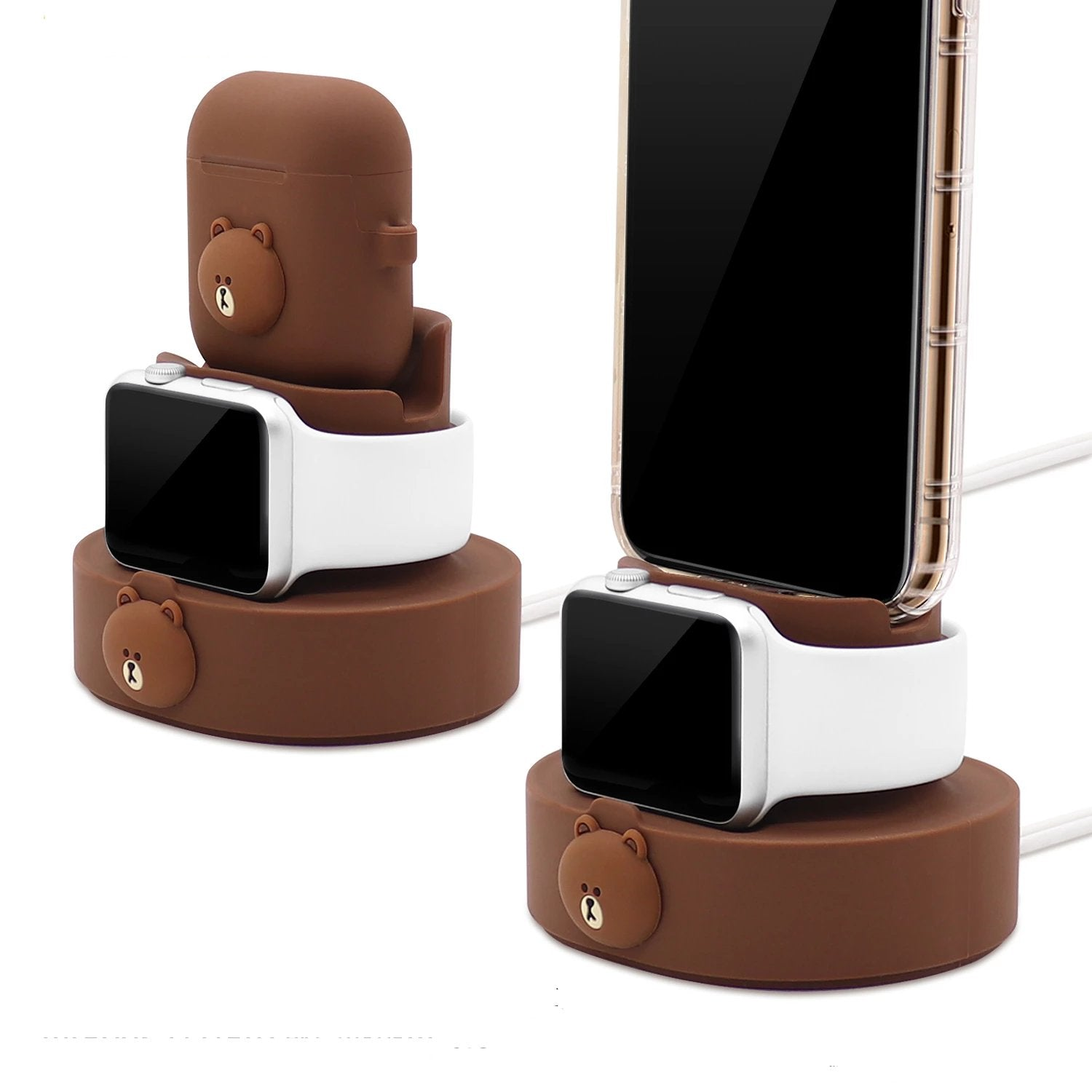 GARMMA Line Friends Apple Watch Charger Dock AirPods Charging Stand iPhone Holder