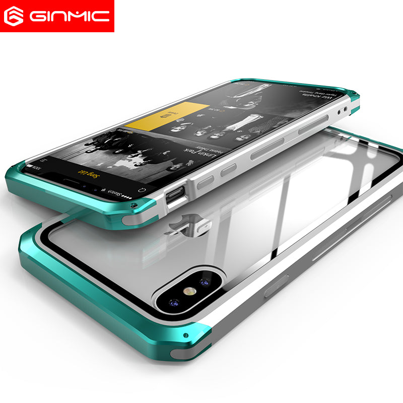GINMIC Solace Glass Aerospace Aluminum Frame Toughened Glass Case Cover