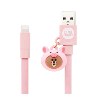 GARMMA Line Friends 1.2M Doll Dangler MFI Lightning Cable for Apple iPhone iPad iPod