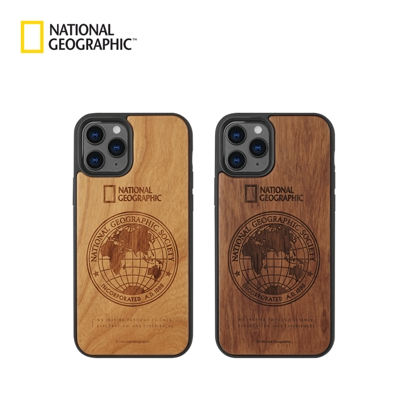 National Geographic Global Seal Nature Wood Case Cover