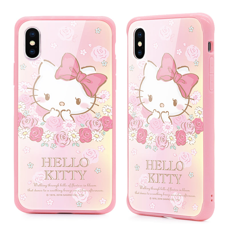 GARMMA Hello Kitty Tempered Glass Back Case Cover for Apple iPhone X/8 Plus/7 Plus