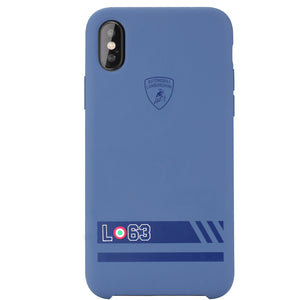 Automobili Lamborghini Huracan-D13 Liquid Silicone Rubber Soft Case for Apple iPhone XS/X