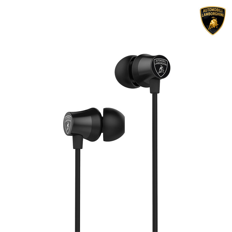 Automobili Lamborghini Huracan I07 In Ear Headphones w/ Mic Remote and Excellent Ear Canal Fit