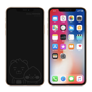 GARMMA Kakao Friends Screen Off Print Tempered Glass Protector Film for Apple iPhone