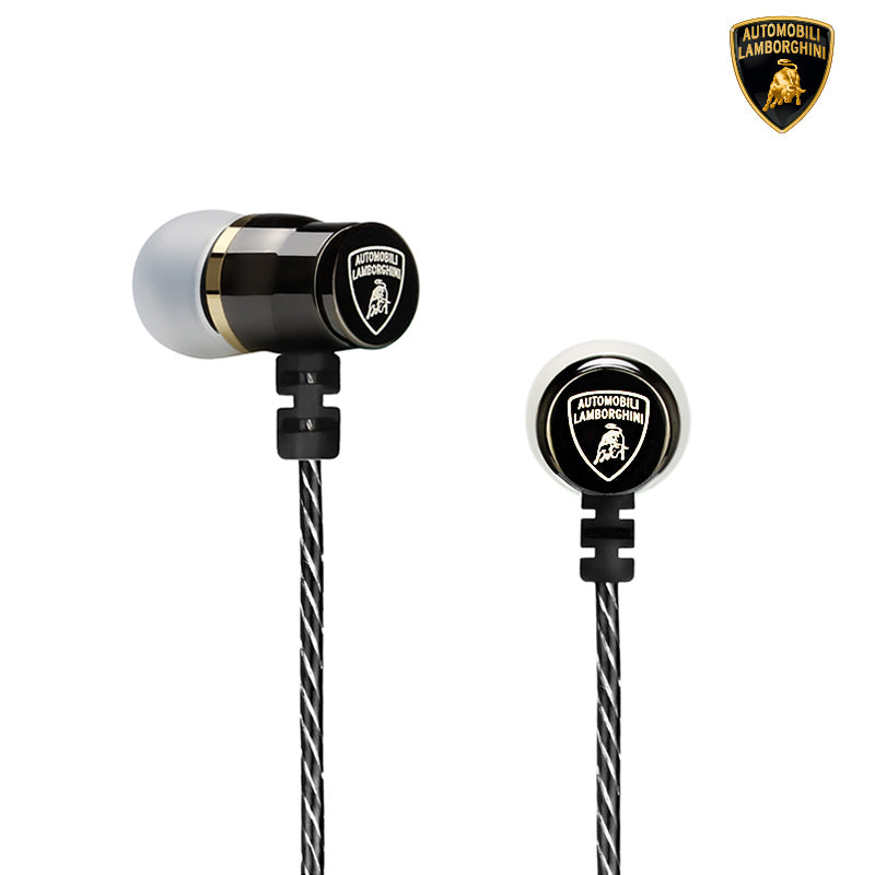 Automobili Lamborghini Huracan I04 In Ear Headphone w/ Mic Remote and Excellent Ear Canal Fit