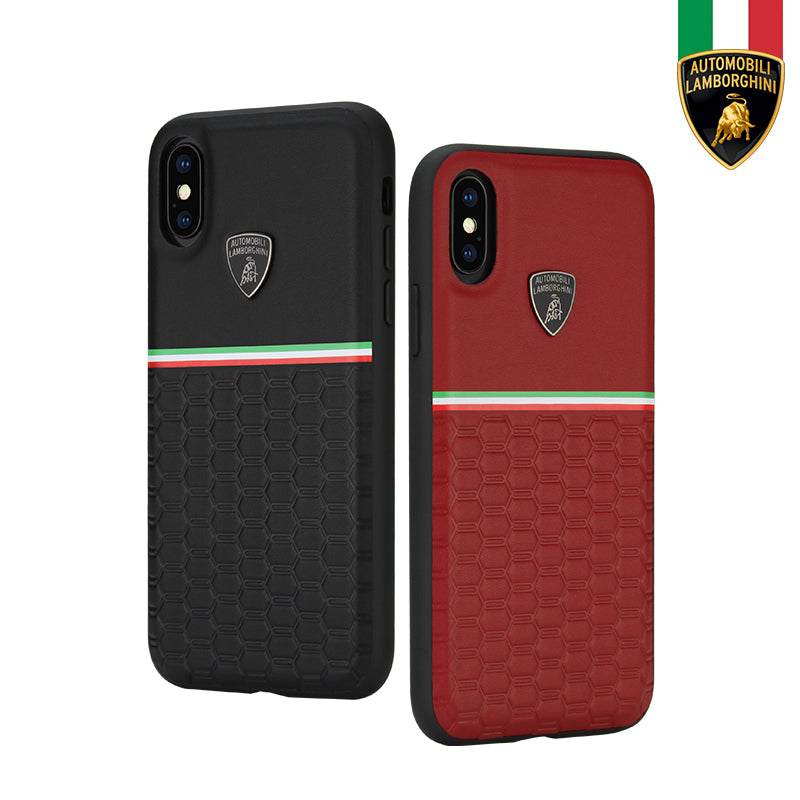 Automobili Lamborghini URUS D3 Genuine Leather Protective Case Cover for Apple iPhone XS/X