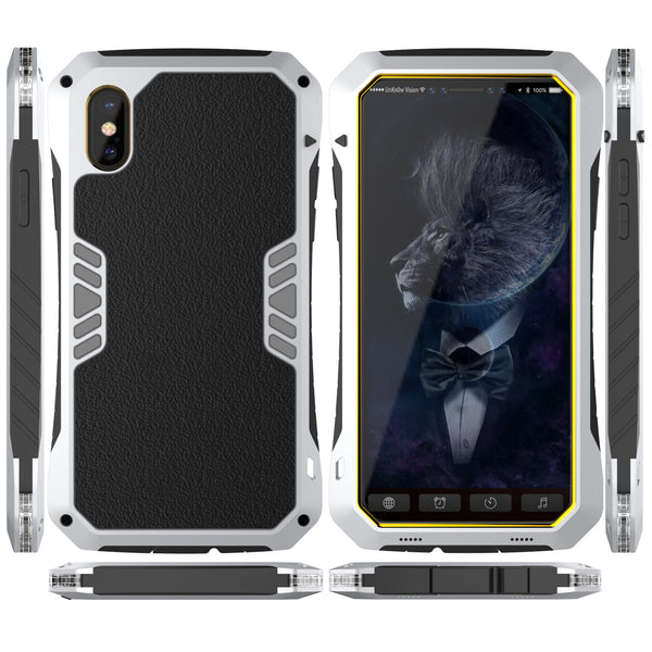 Luphie Armored Knight Bicolor Aluminum Shockproof Triple Protection Case Cover for Apple iPhone X