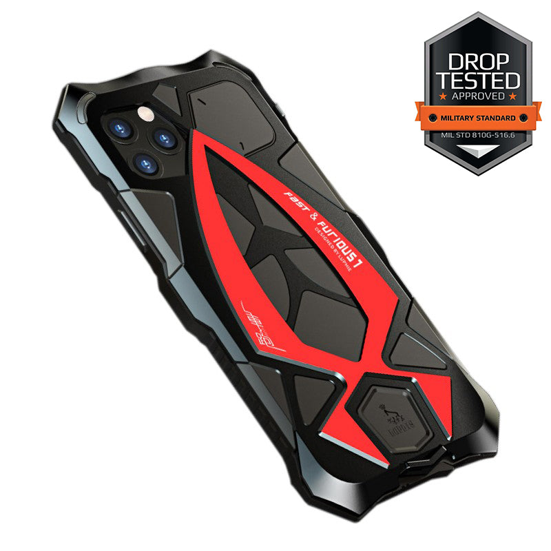 Luphie Roadster Sports Car Water-resistant Shockproof Heavy Duty Metal Case Cover