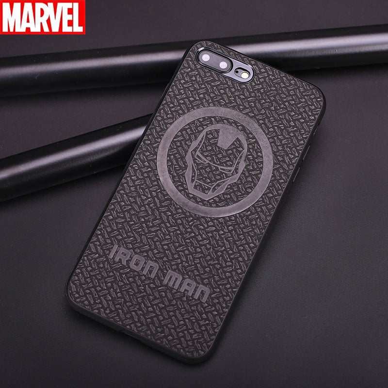 Marvel Avengers Wise 3D Woven Pattern PU Leather Case Cover for Apple iPhone 8 Plus/7 Plus/8/7