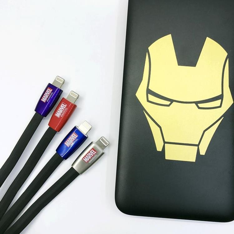 Marvel Zinc Alloy Connector Quick Charge Cable Lighting Cable for Apple iPhone iPad iPod