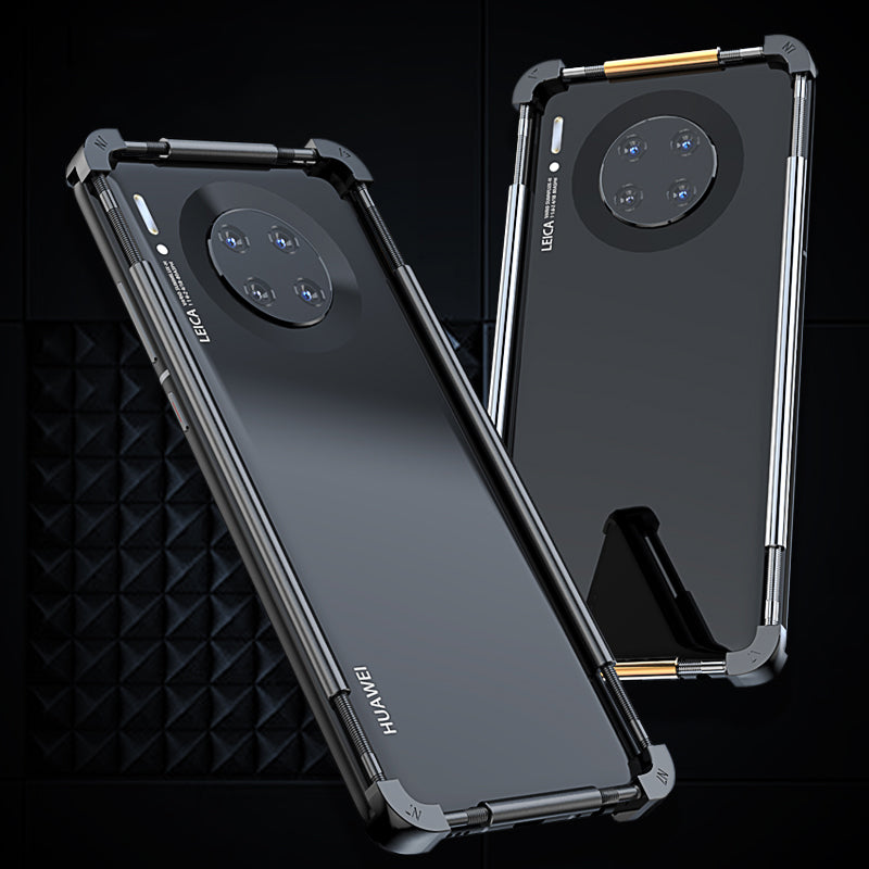 SIMON Mechanical Armor Stainless Steel+Aluminum Bumper Case Cover