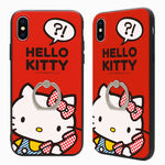 GARMMA Hello Kitty & Little Twin Stars & My Melody Ring Holder Back Cover Case for Apple iPhone