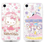 GARMMA Little Twin Stars & Hello Kitty & My Melody Swarovski Crystal Air Bag Soft Back Case Cover