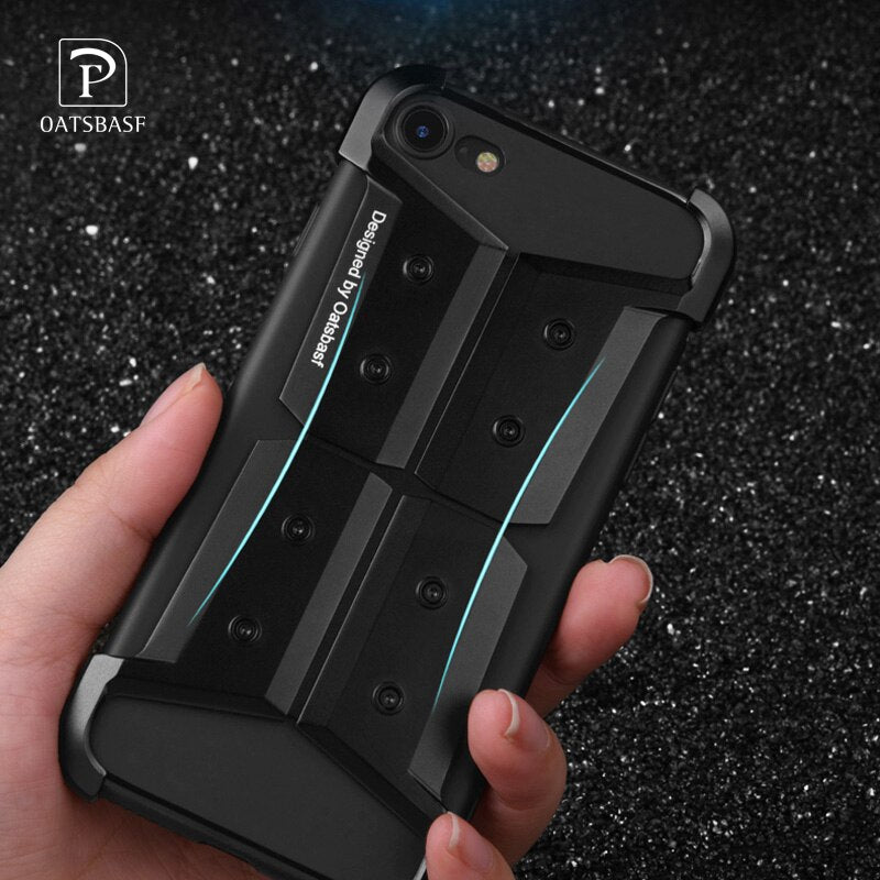 Oatsbasf Super Shockproof Anti-knock Aluminum Metal Armor Case for Apple iPhone 8/7