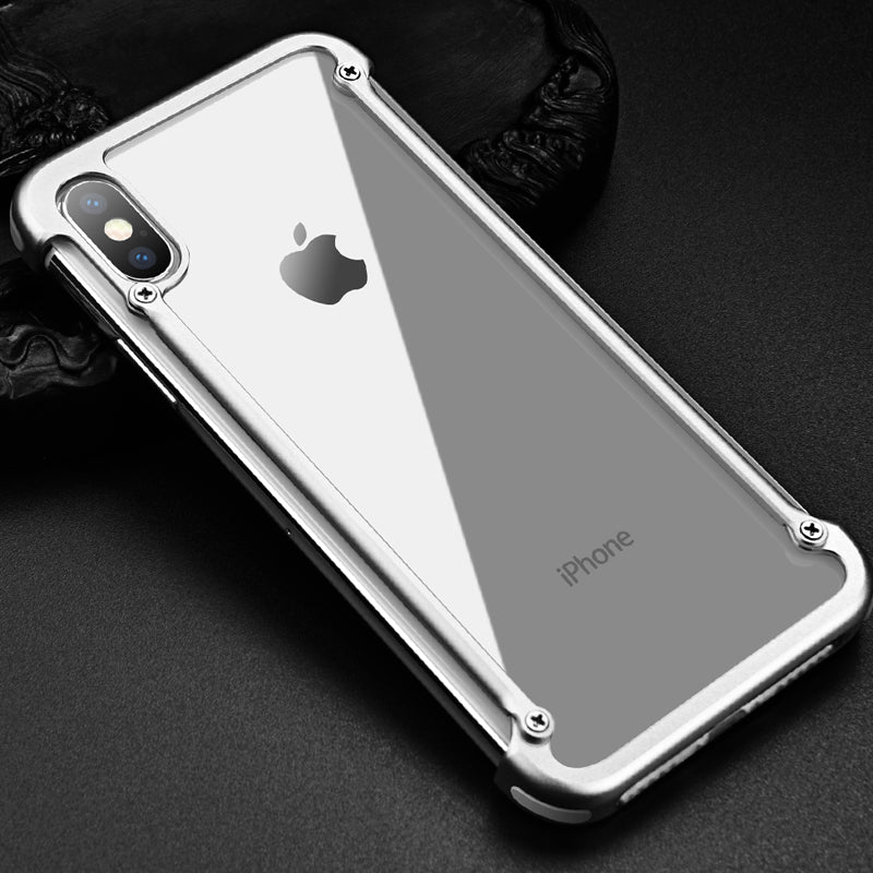 Oatsbasf Air Cushion Shockproof Aluminum Metal Bumper Case Cover